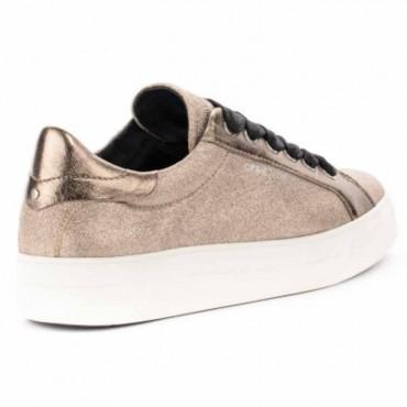Crime London sneakers converse alta in pelle metallizzata cipria punta met Java Hi