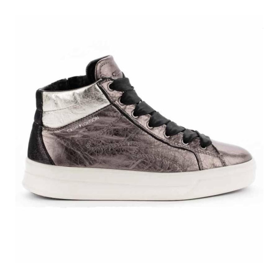 d2f4a829a2040 Crime London sneakers converse alta in pelle lati stampa pitone colore nero Java  Hi