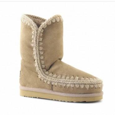 Mou eskimo  tronchetto donna montone colore  beige camel