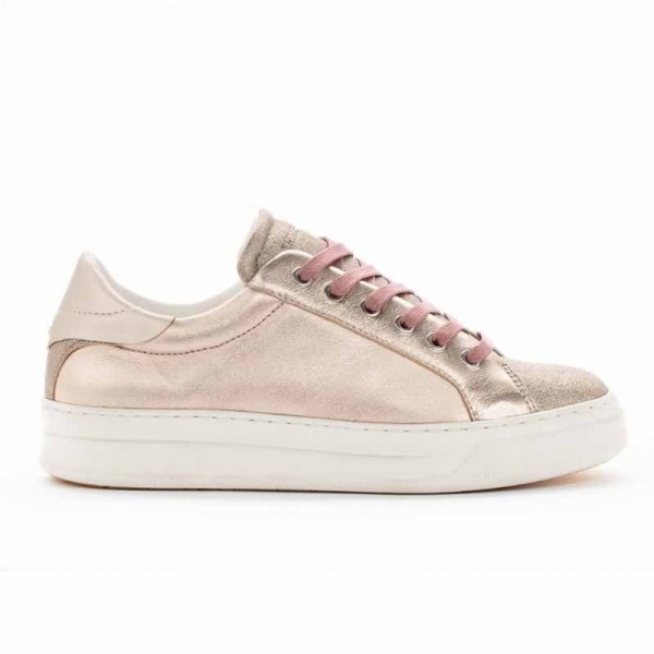 Crime London sneakers converse bassa in pelle metallizzata pink gold Sonik