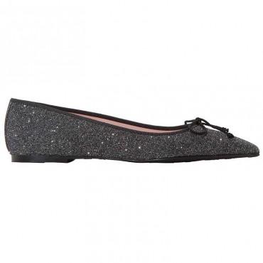 scarpe ballerine donna pretty ballerinas tessuto glitter nero