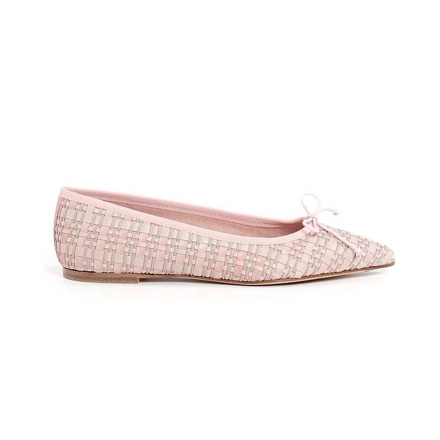 scarpe ballerine donna rosa beige