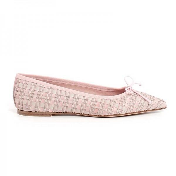 Scarpe ballerine donna Pretty Ballerinas rosa beige