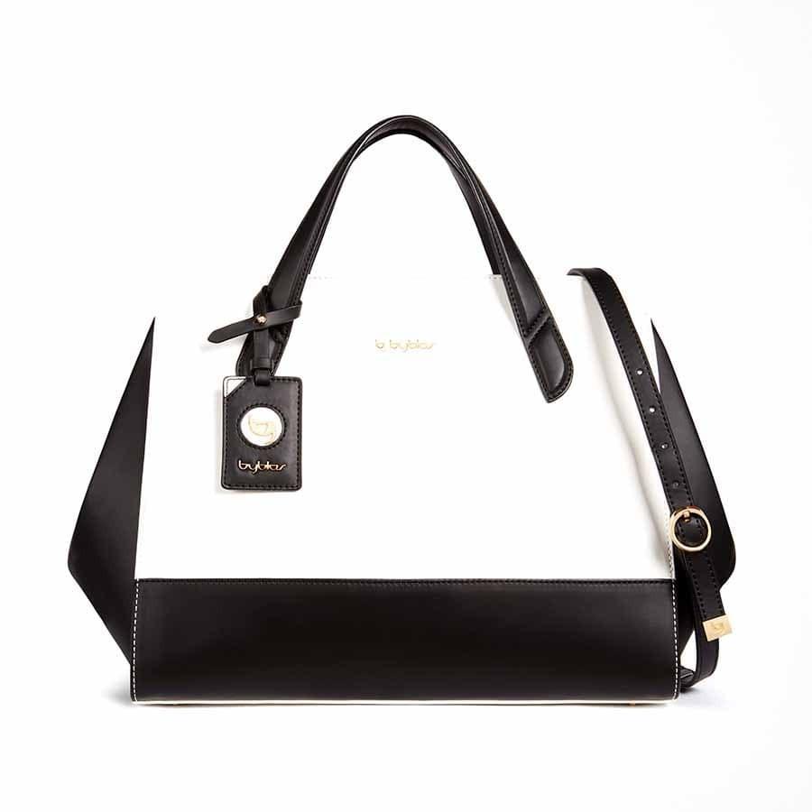cheaper 4ee78 55fb0 Byblos borsa donna a braccio in eco pelle L.A. color block Colore Nero