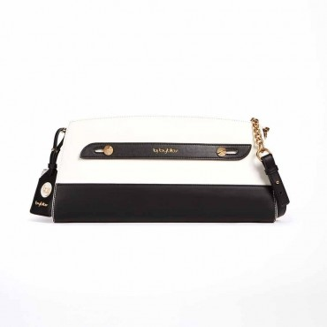Byblos borsa donna pochette in eco pelle L.A. color block contrasto