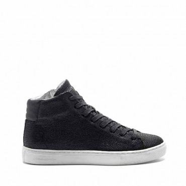 Crime London sneakers converse alta pelle lati stampa colore nero Infinity