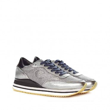 Crime london sneakers running donna pelle canna fucile stampa