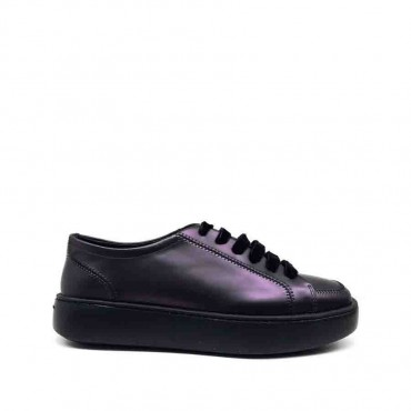Fratelli Rossetti sneakers donna in pelle prugna