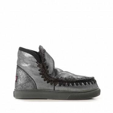Mou eskimo sneaker micro glitter black tronchetto montone donna