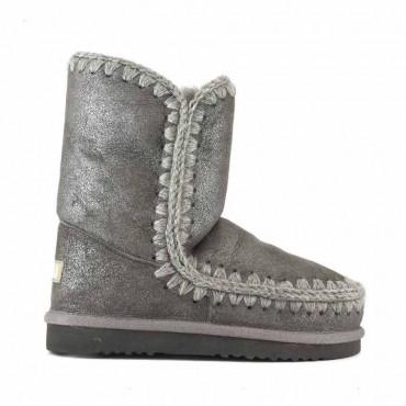 Mou eskimo 24 tronchetto donna montone grigio metallizzato dust iron Duiro