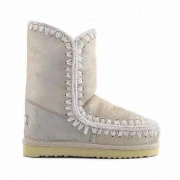 Mou eskimo 24 tronchetto donna montone beige metallizzato stone metallic Stme