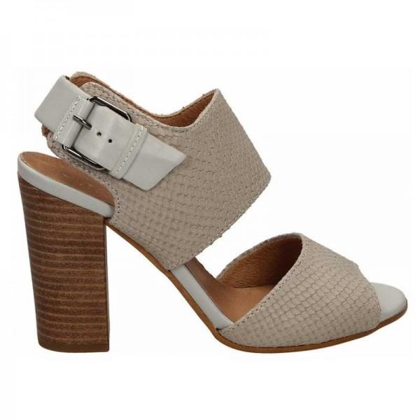 Carmens Padova 37104 sandalo donna in pelle fango con lavorazione effetto pitone