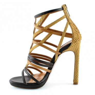 Tiffi sandalo donna Q33-SNAKE-NOCE