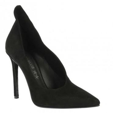 Marc-Ellis-6056 camoscio nero scarpa decolte donna