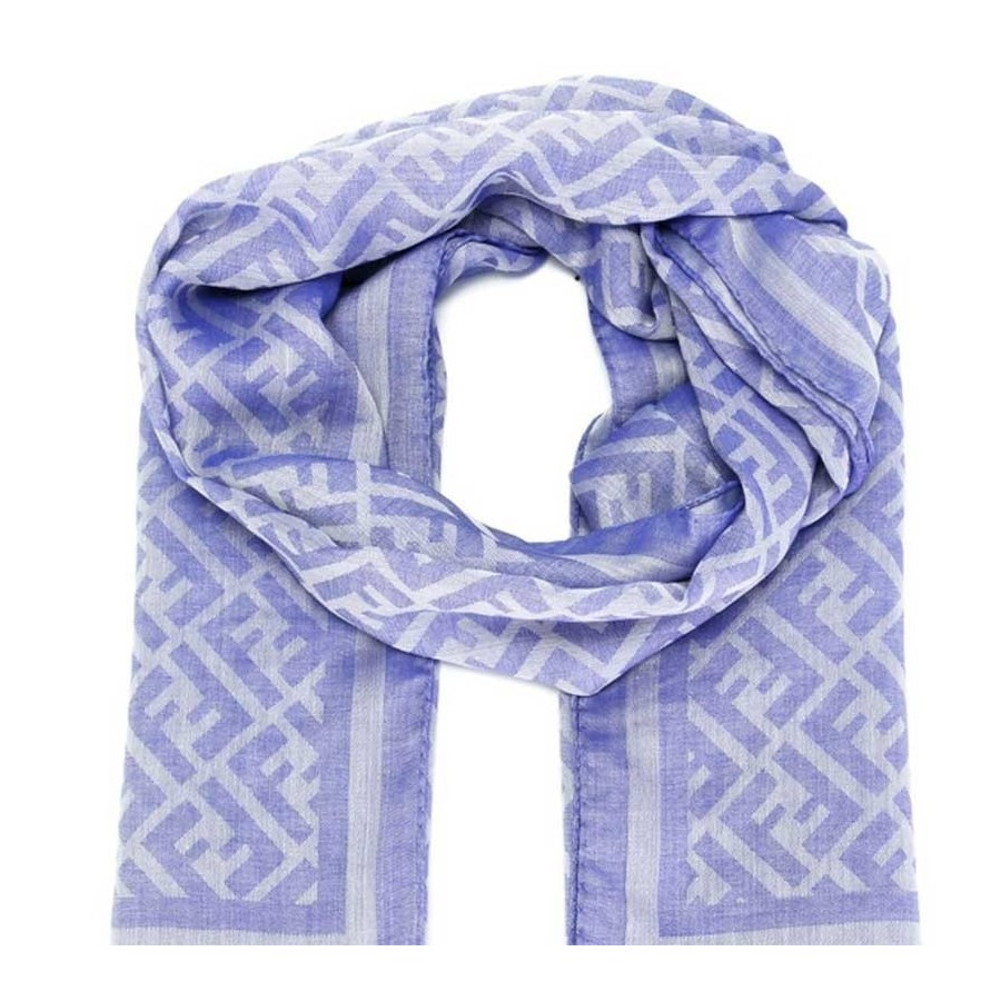 best loved e7088 e5293 Sciarpa Fendi Stola Lana Seta Cotone Sciarpe Uomo Colore Blu