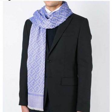 sciarpa fendi stola uomo seta cotone lana
