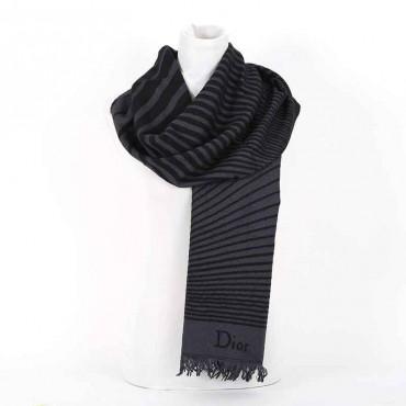 Sciarpa Dior misto lana grigio nero sciarpa donna