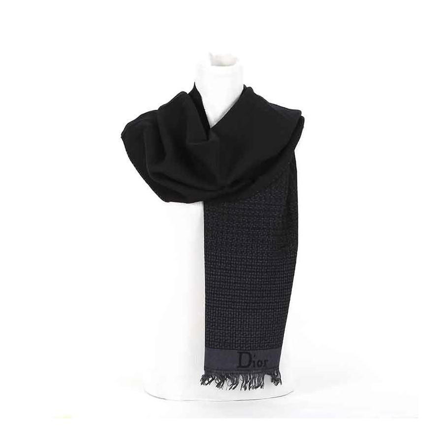 Sciarpa Dior lana intreccio nero t.moro sciarpa uomo
