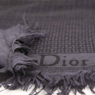 Sciarpa Dior lana intreccio nero grigio sciarpa uomo