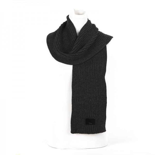 Sciarpa Dior lana a coste grigio scuro sciarpa uomo
