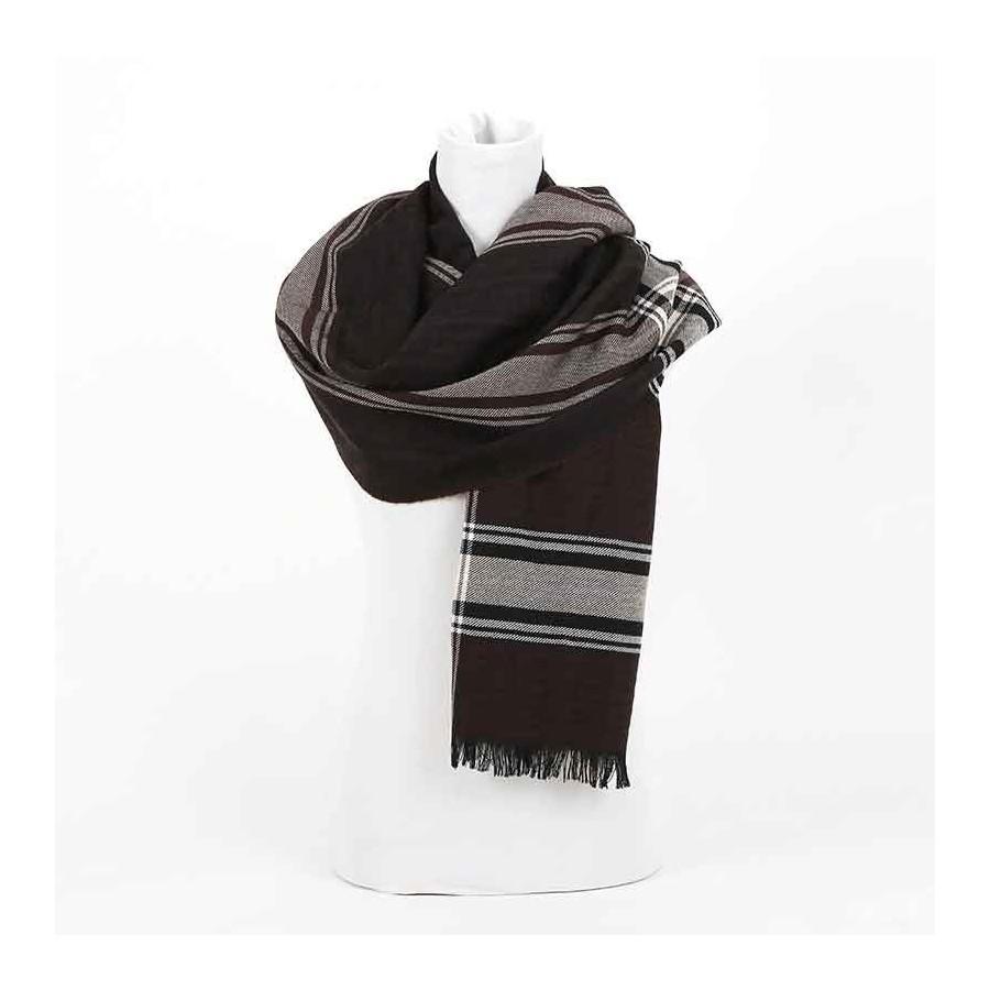 informazioni per 8a11e f545c Sciarpa Fendi lana costa moro sciarpa donna Fendi Colori Dark brown