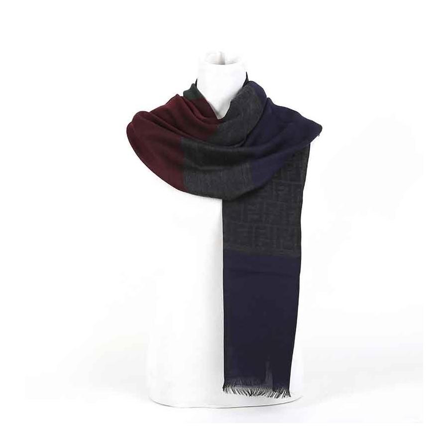 selezione premium fe7da d596e Stola Fendi lana jacquard color sciarpa donna Colore blu/verde