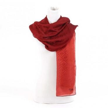 Stola donna Fendi seta logo jacquard sciarpa donna
