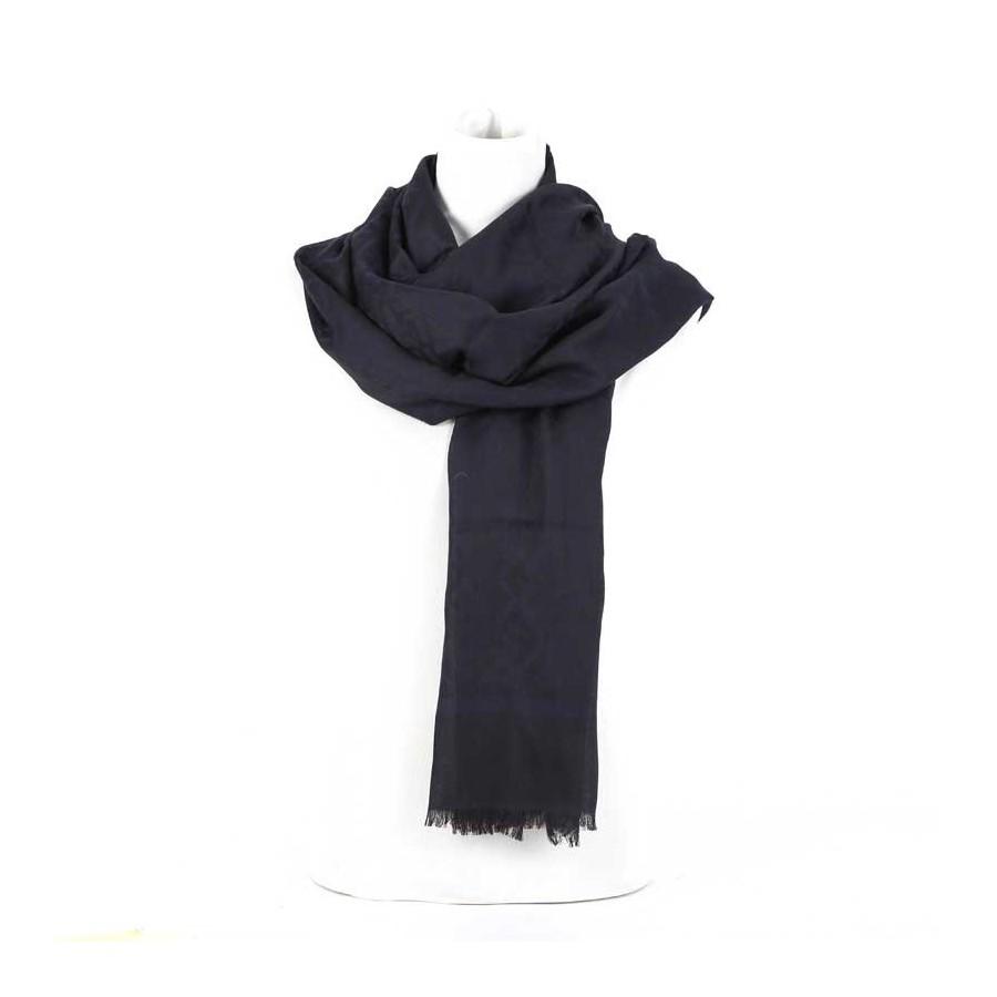 più foto aaa15 5b89b Stola donna Fendi seta jacquard sciarpa donna Colore Blu