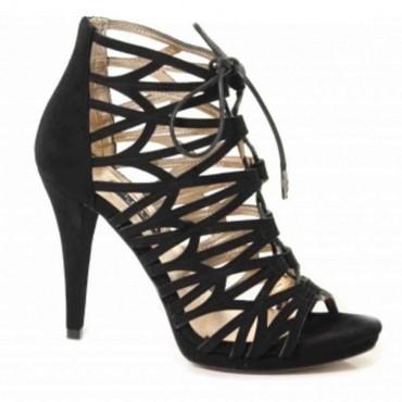 Sandalo donna Albano camoscio nero tronchetto donna