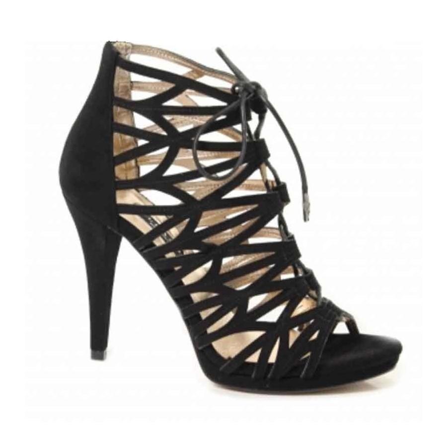 Sandalo donna Albano camoscio nero tronchetto donna Colore Nero Taglie Scarpe Donna 40