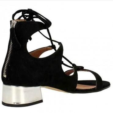 Sandalo donna Carmens camoscio nero scarpa donna