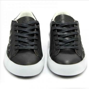Scarpa donna Crime London nero pelle forata scarpa donna