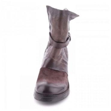 Stivale tronchetto donna A.S.98  doppio fusto testa di moro scarpa donna
