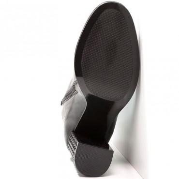 Bruno Premi tronchetto donna pelle con tacco gioiello N2404G