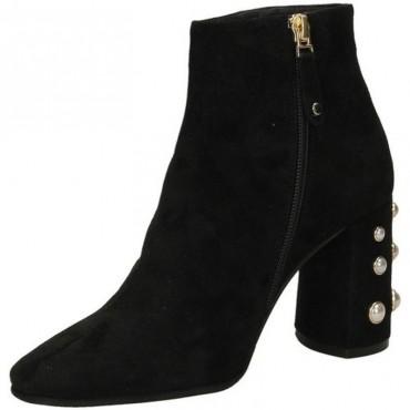 Elvio Zanon tronchetto donna g4601p camoscio tacco perle colore nero