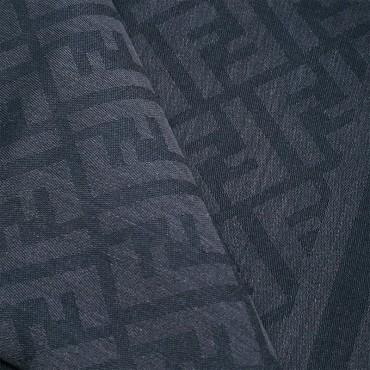 Fendi kefia unisex jacquard zucca misto seta color grigio scuro FXS2962TE