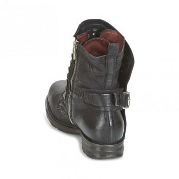 A.S.98 stivale donna anfibio con borchie pelle nero 259213