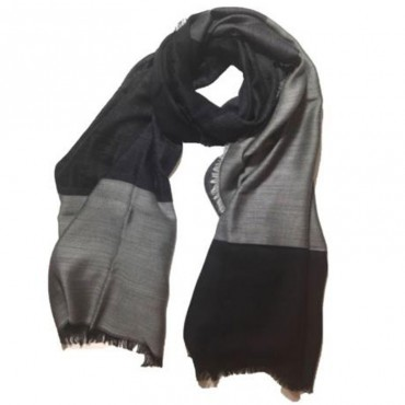 Fendi sciarpa uomo in misto seta lana jacquard color block logo FF in gradazioni di colore FXS344i0y