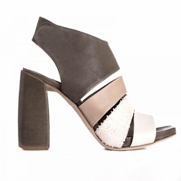Ixos sandalo donna su tacco pelle multicolor x18e45111